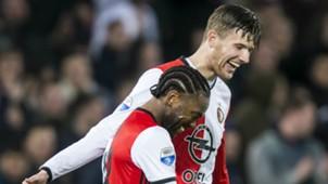 Miquel Nelom, Michiel Kramer, Feyenoord, Eredivisie, 04052017
