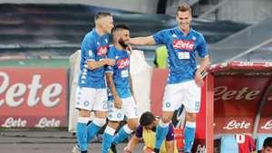 Insigne Milik Zielinski Napoli Fiorentina Serie A