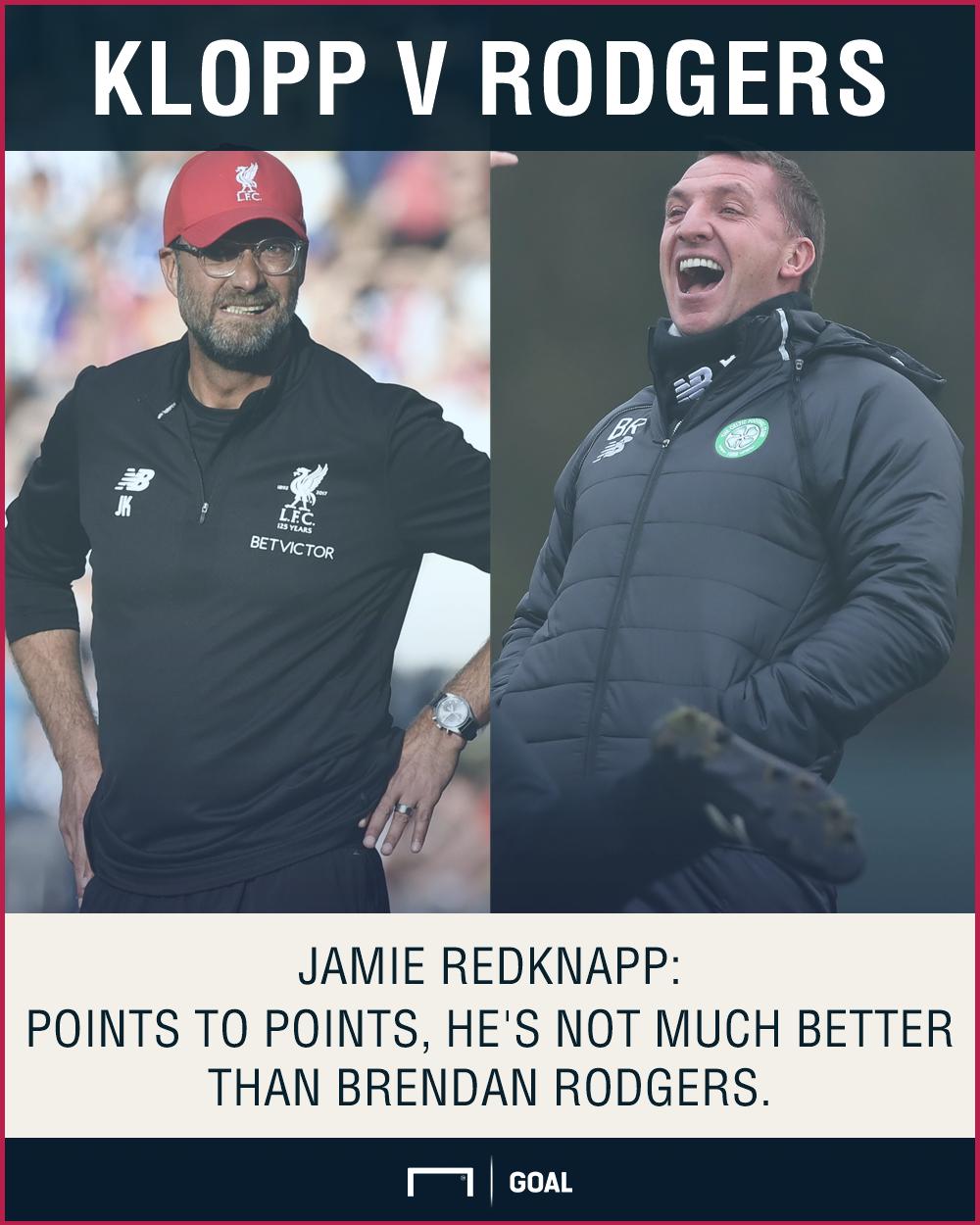 Jamie Redknapp Jurgen Klopp Brendan Rodgers Liverpool
