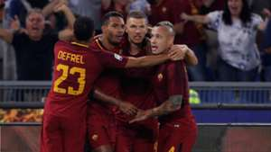 Roma celebrates Inter Serie A