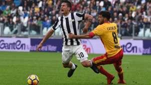Dybala Cataldi Juventus Benevento Serie A