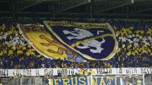 Frosinone fans at Benito Stirpe Stadium 09232018