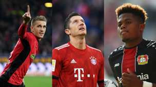 GFX Bundesliga Petersen, Lewandowski, Bailey