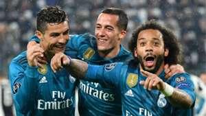 Marcelo Cristiano Ronaldo Lucas Vasquez Real Madrid Juventus Champions League  03 04 2018