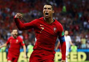 With his hat-trick against Spain, Cristiano Ronaldo became the fourth player to score in four World Cups, joining Pele, Miroslav Klose and Uwe Seeler. He also became the first Portuguese player to appear in four World Cups, and at 33 became the oldest ...