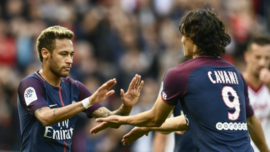 Neymar Edinson Cavani PSG 2017