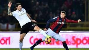 Alessio Romagnoli Mattia Destro Bologna Milan Serie A