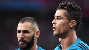 Prematch Benzema Ronaldo Real Madrid Liverpool Champions League final 26052018