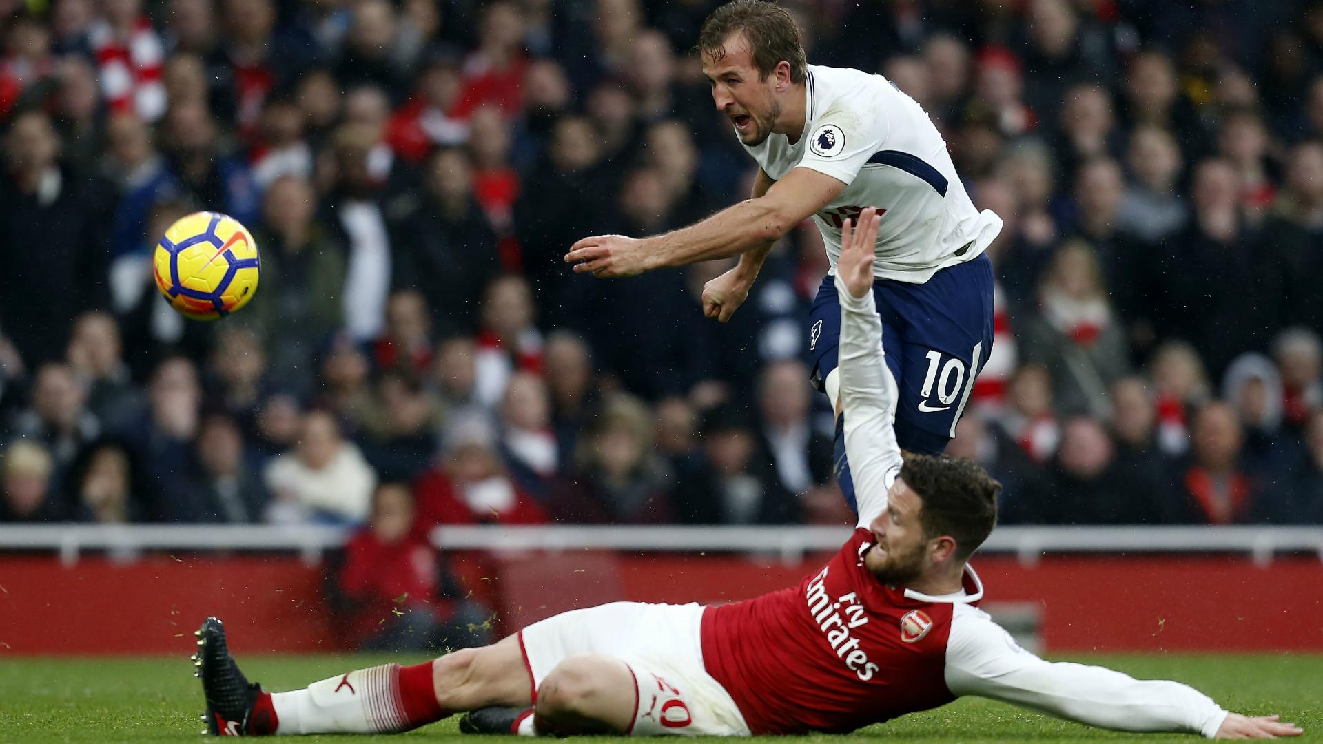 Harry Kane Shkodran Mustafi Arsenal Tottenham 18112017