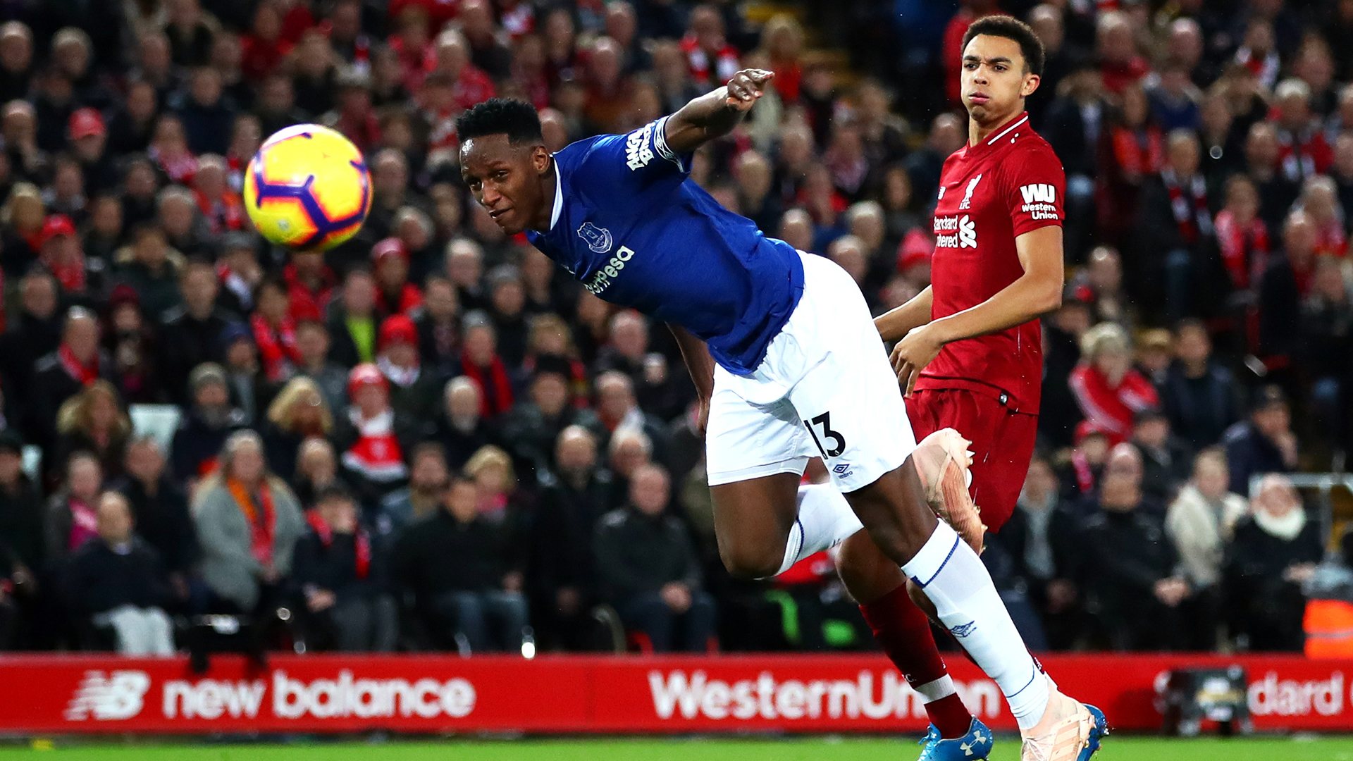 Yerry Mina Everton Liverpool Premier League 2122018