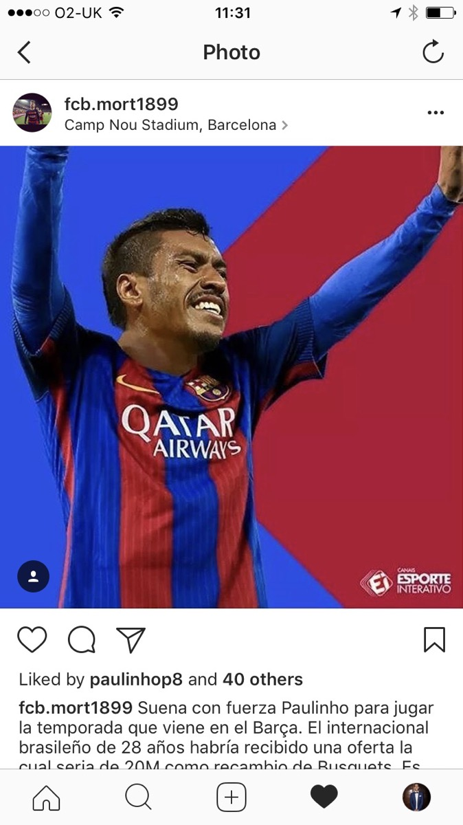 BODY ONLY Paulinho Instagram