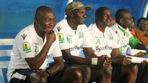 Gor Mahia technical bench Zedekiah Otieno and Willice Ochieng.