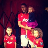 rio ferdinand with his children