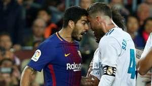 Luis Suarez Sergio Ramos Barcelona Real Madrid El Clasico LaLiga 06052018Barcelona Real Madrid El Clasico LaLiga 06052018