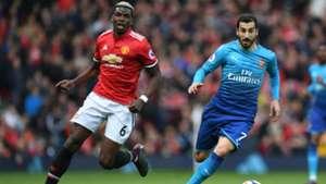 Manchester United Arsenal Paul Pogba Henrich Mkhitaryan 29042018