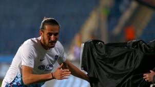 Yusuf Yazici Osmanlispor Trabzonspor goal celebration 04162018
