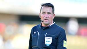 South African referee Daniel Bennett