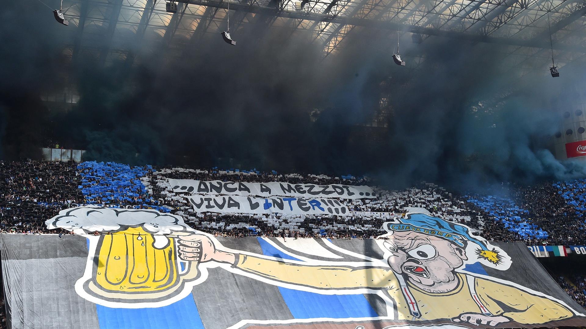 Coreografia Inter AC Milan derby