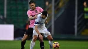 Giuseppe Pezzella Antonio Candreva Palermo Inter Serie A