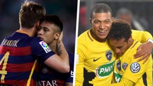 Neymar Ivan Rakitic Neymar Kylian Mbappe Split