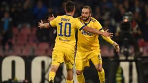 Gonzalo Higuain Paulo Dybala Napoli Juventus Serie A