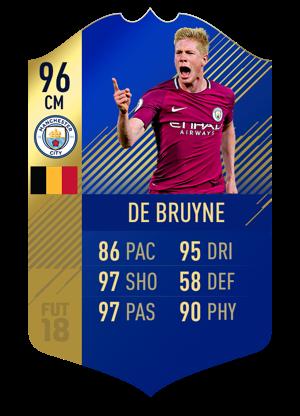 FIFA 18 Team of the Season De Bruyne
