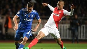 Dybala Fabinho Monaco Juventus Champions League 03052017