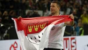 Lukas Podolski Köln Cologne Flagge Flag