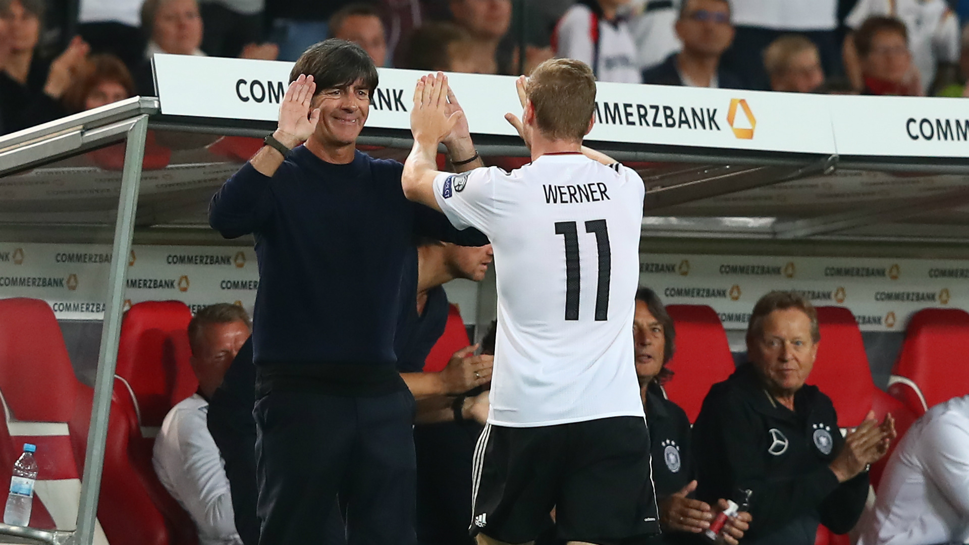 Joachim Low Timo Werner Germany 04092017