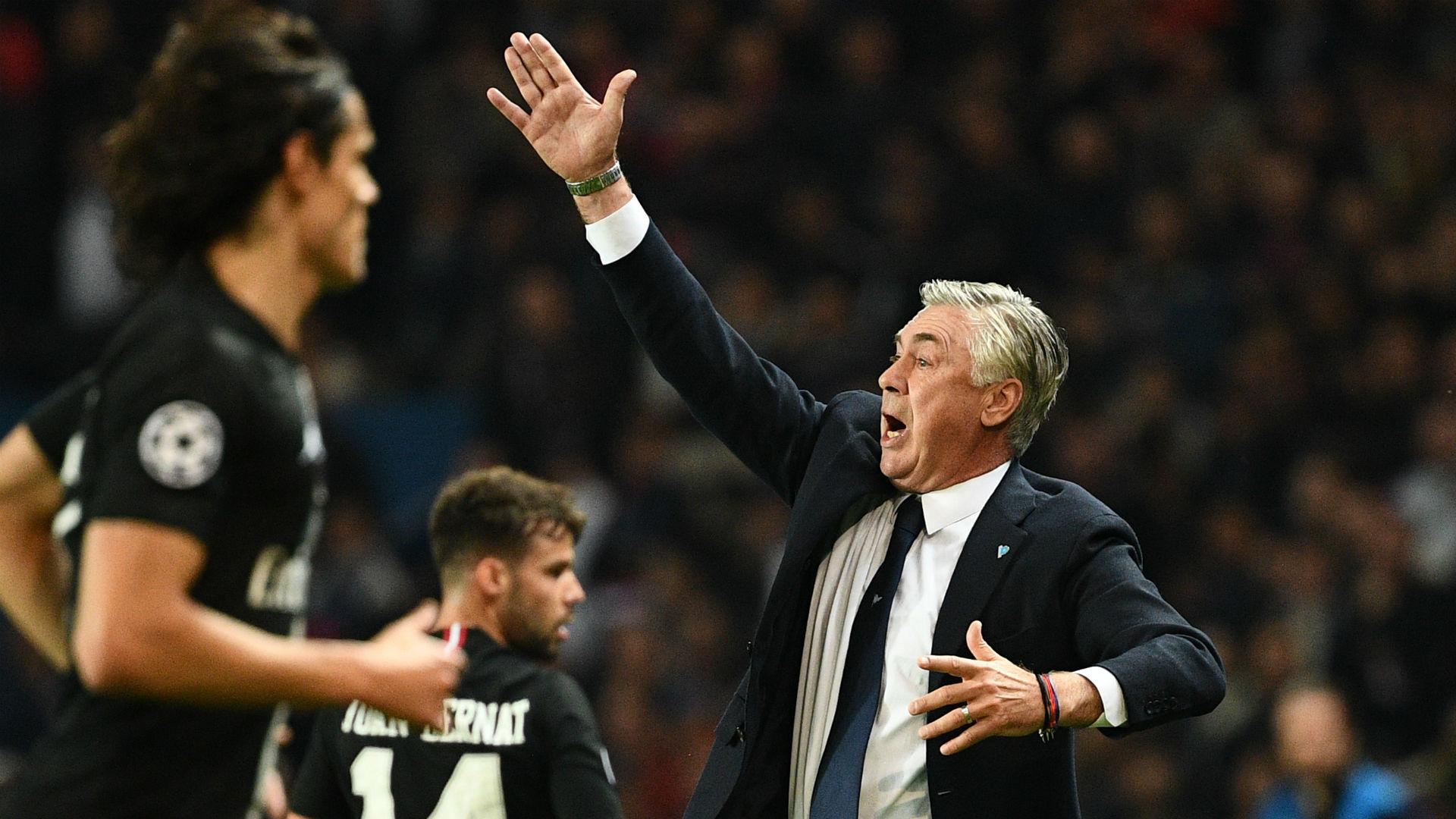 Carlo Ancelotti PSG Napoli UEFA Champions League 24102018
