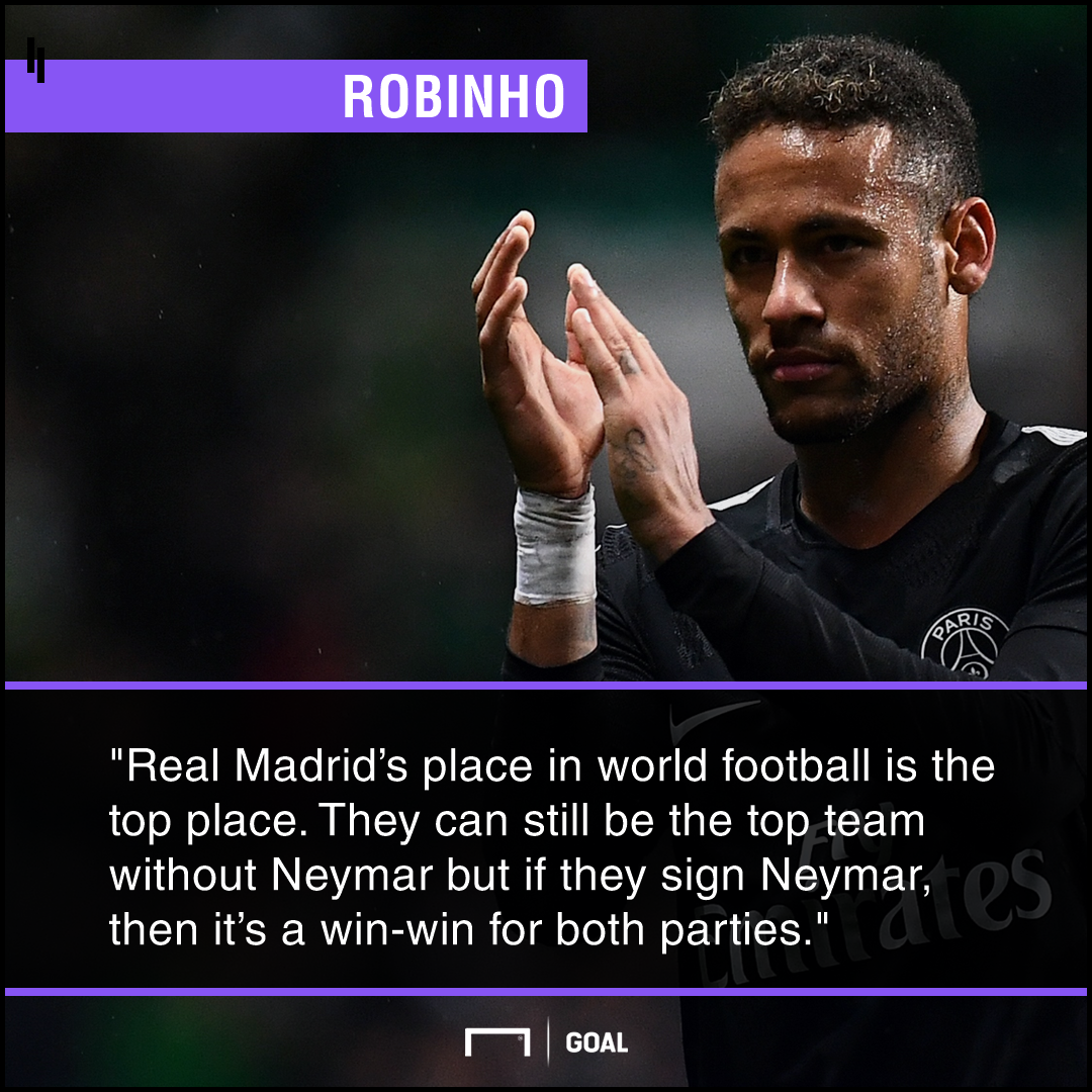 Neymar Real Madrid win-win Robinho
