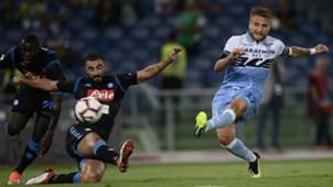 Ciro Immobile Raul Albiol Kalidou Koulibaly Lazio Napoli Serie A 08182018