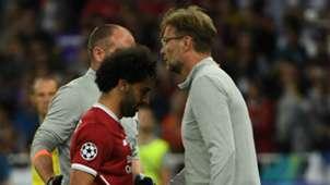 Jurgen Klopp Mohamed Salah Liverpool 2017-18