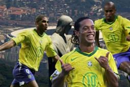 GFX Brazil Ronaldinho Adriano Ze Roberto