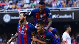 FC Barcelona Messi Neymar Denis Suarez 22102016