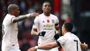 Anthony Martial Bournemouth Manchester United Premier League 03112018