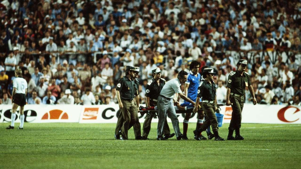Battiston Schumacher Platini France West Germany World Cup 1982