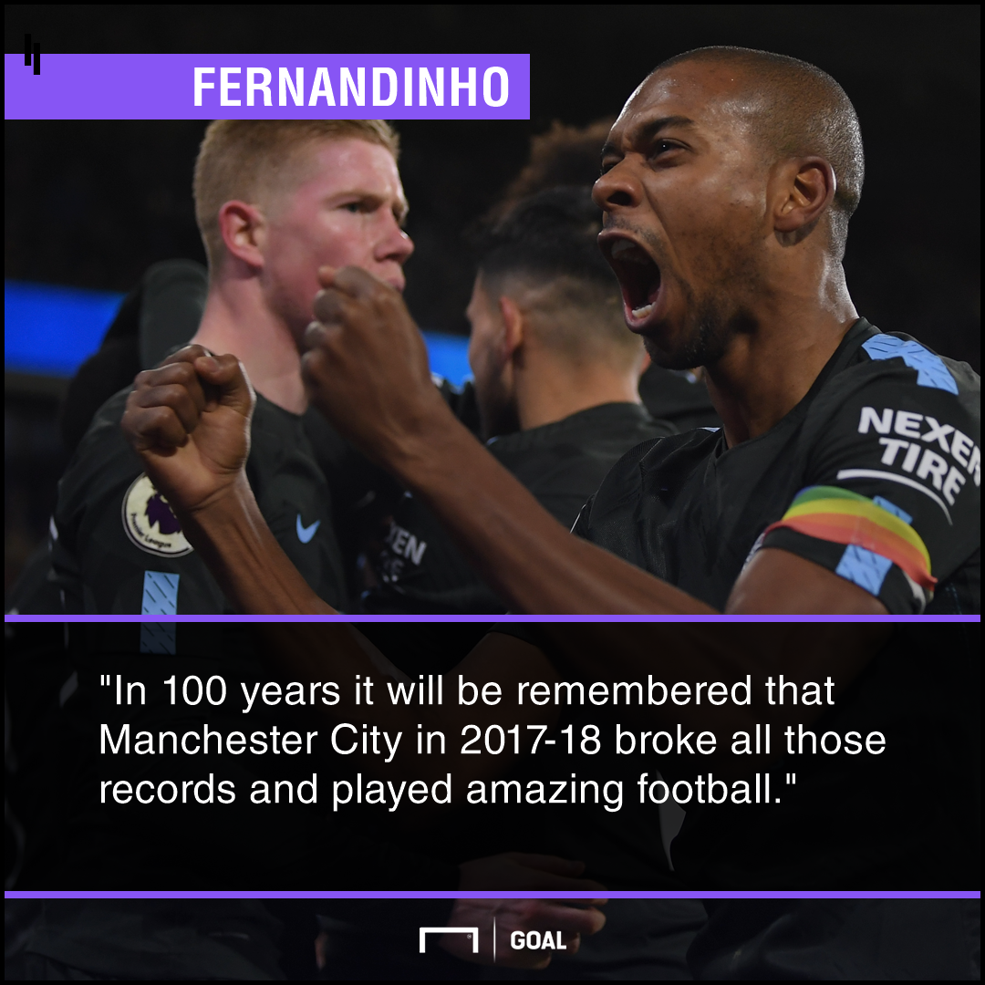 Fernandinho Manchester City remembered for 100 years