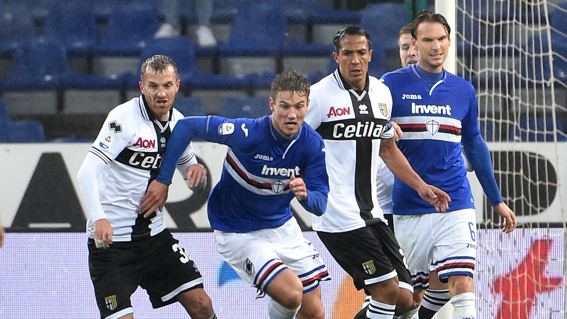 Joachim Andersen Bruno Alves Sampdoria Parma Serie A