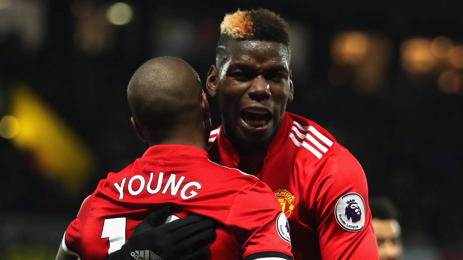 Young Pogba Manchester United Watford Premier League 11282017
