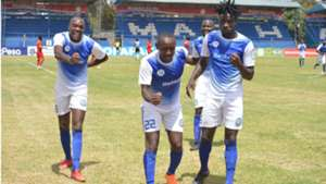 Sofapaka striker Stephen Waruru v Mount Kenya United.
