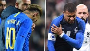 Neymar Kylian Mbappe Brazil France 2018
