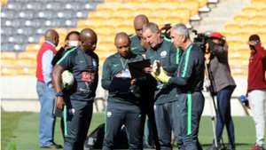 Stuart Baxter and his Bafana Bafana technical team