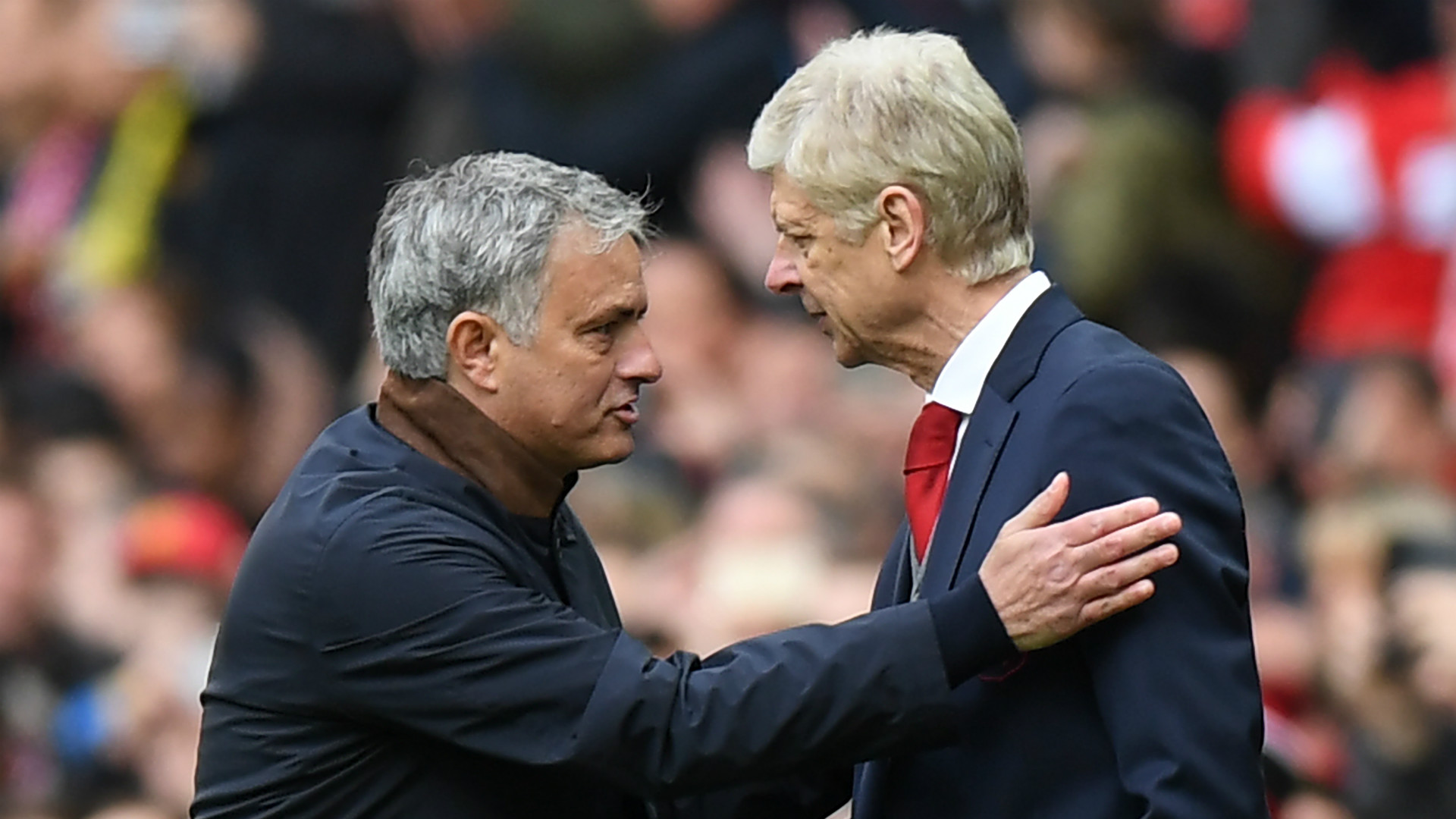 Arsene Wenger Jose Mourinho Manchester United Arsenal