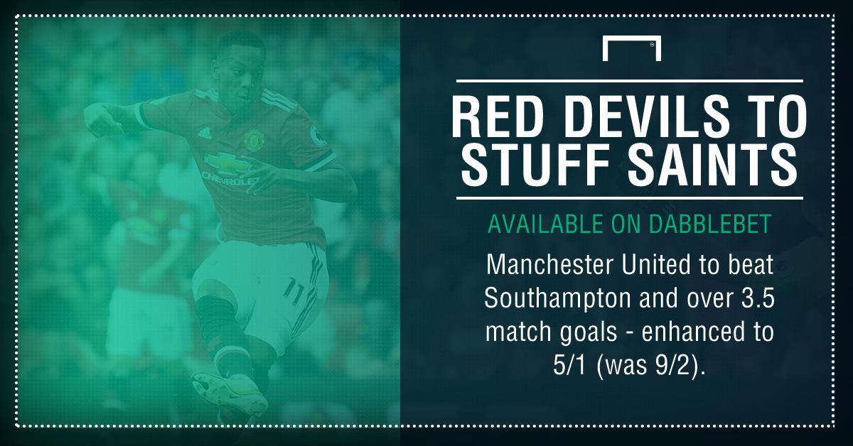 Southampton Man United graphic