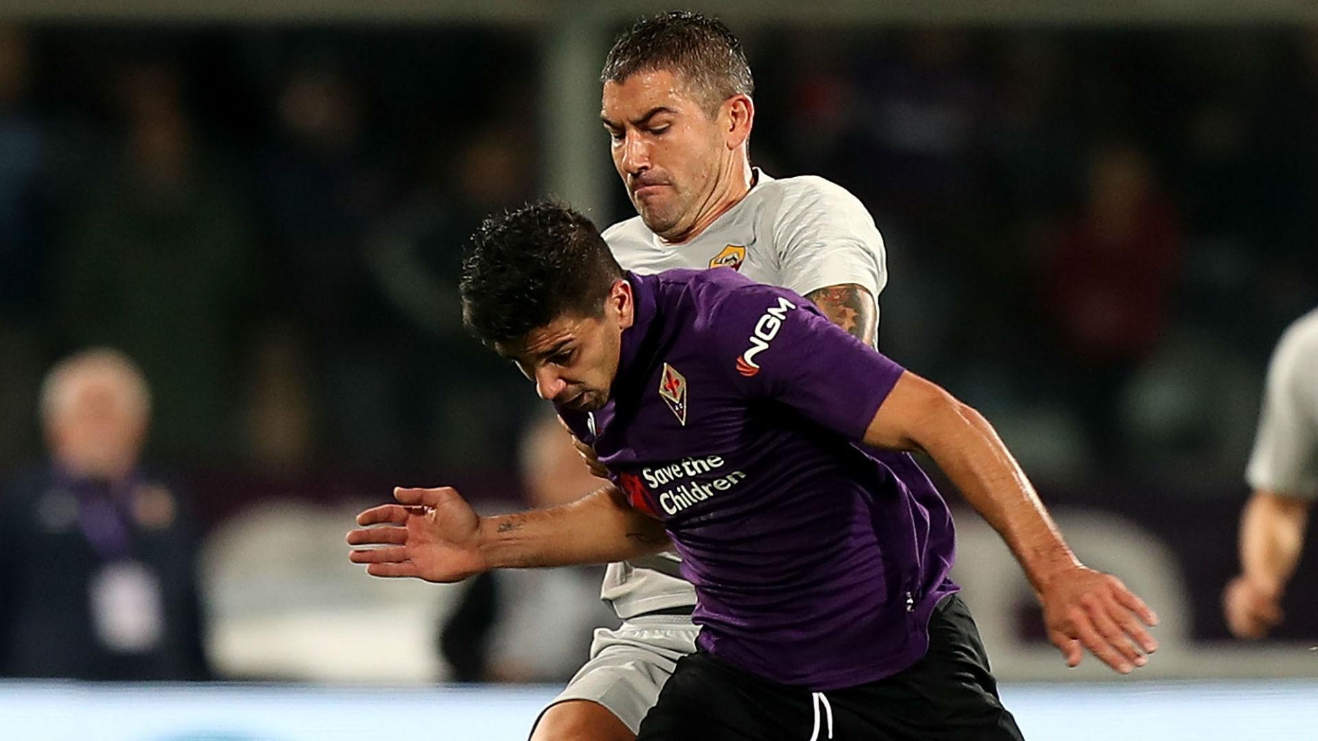 Giovanni Simeone Kolarov Fiorentina Roma Serie A