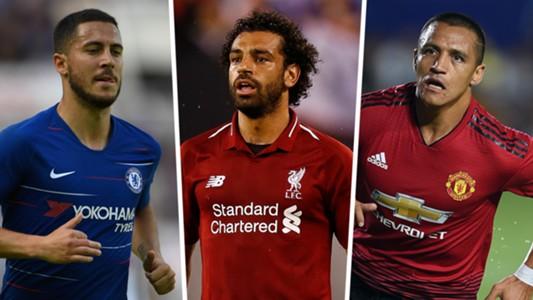 Eden Hazard Mohamed Salah Alexis Sanchez