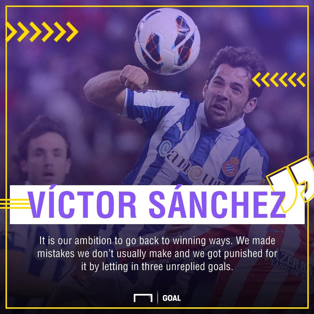 Víctor Sánchez on home defeat to Sevilla