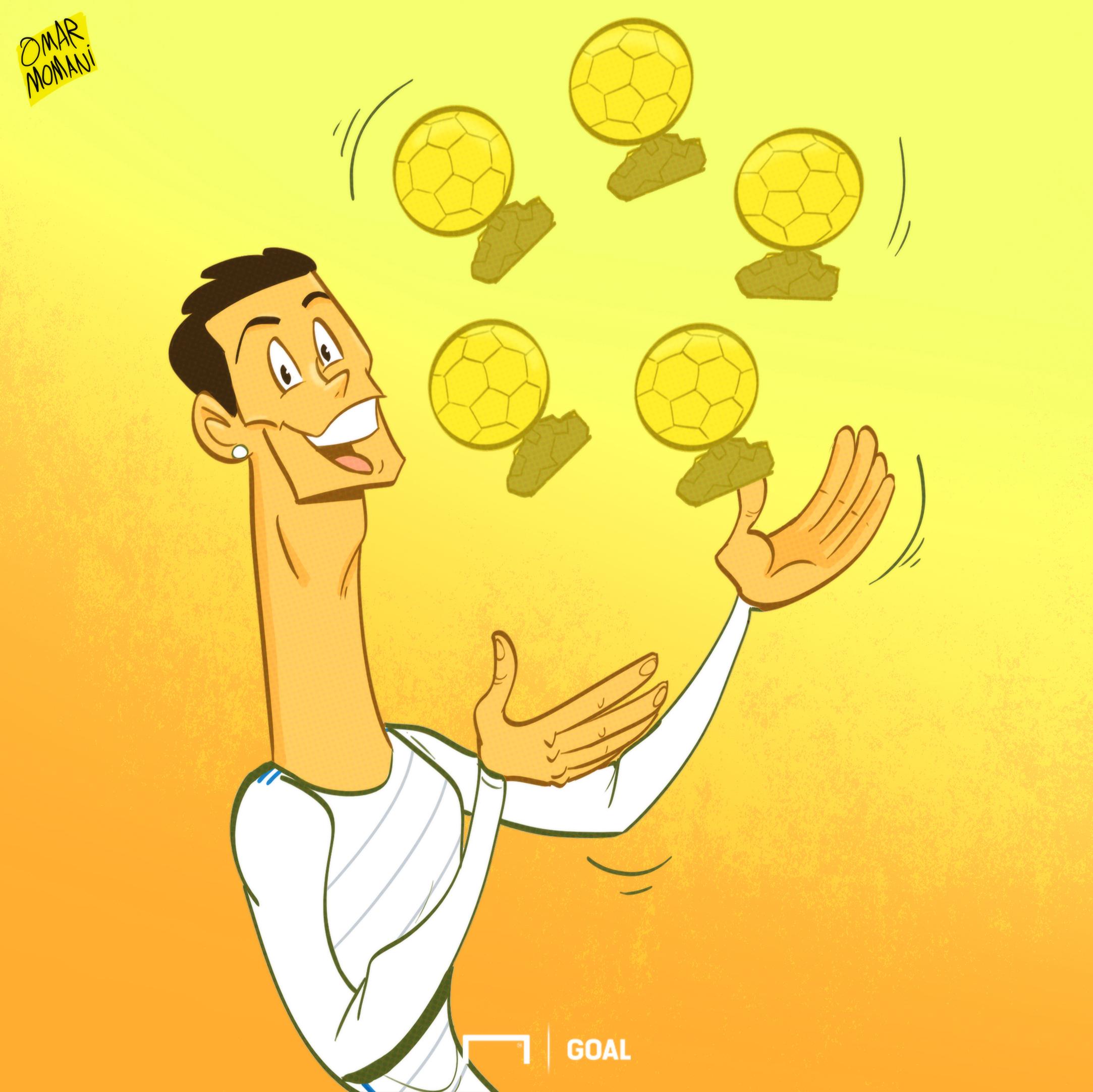 cartoon of the day Ronaldo 5th Balon d'Or