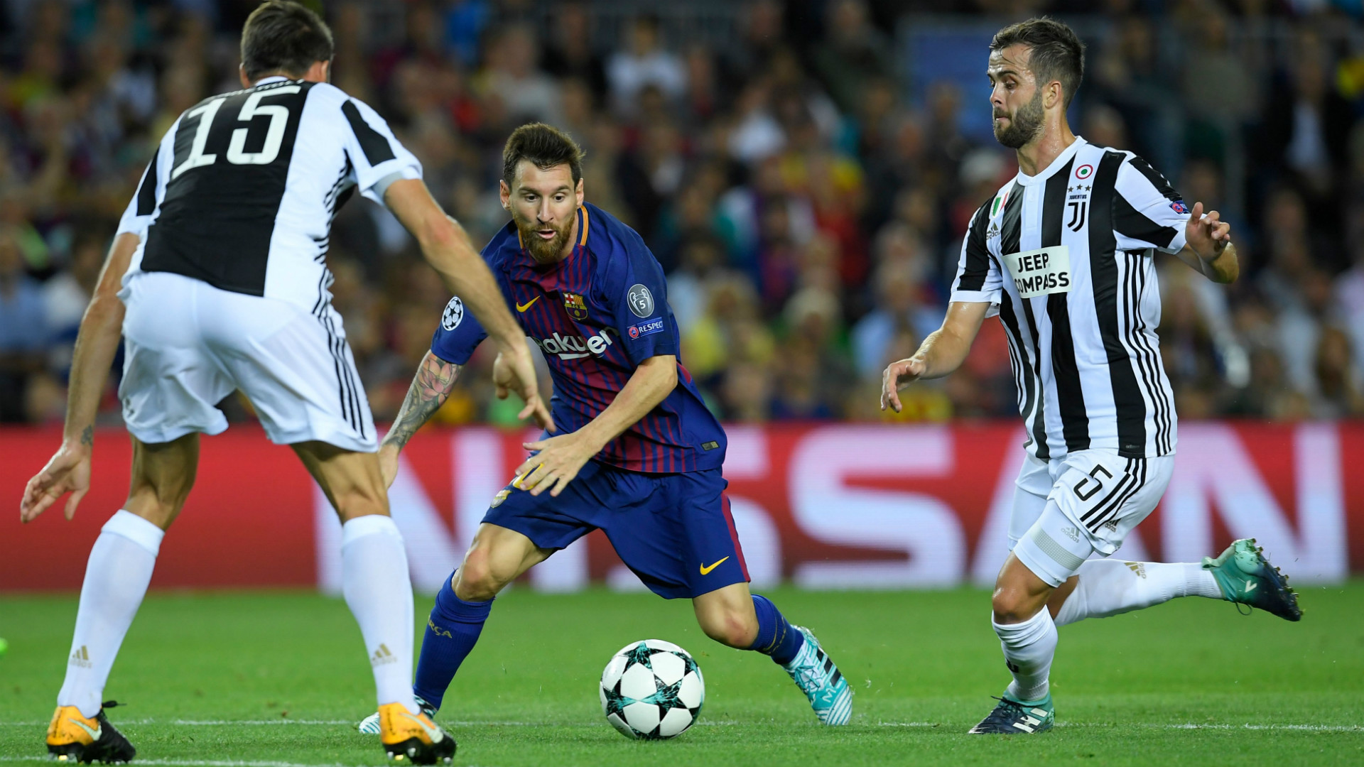 Lionel Messi Barcelona Juventus Champions League